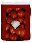 Garlic And Tomatoes Duvet Cover