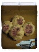 Garlic Heads  Duvet Cover