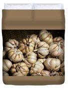 Garlic In A Basket. Duvet Cover
