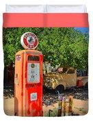 Gas Pump At Embudo Gas Museum Duvet Cover
