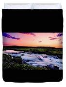 Gaski Waterfall, Grafarlandaa River Duvet Cover