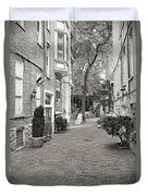 Gaslight Court Chicago Old Town Duvet Cover