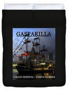 Gasparilla Ship Print Work C Duvet Cover