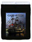 Gasparilla Ship Work A Print Duvet Cover