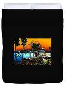 Gasparilla Sunset Duvet Cover by David Lee Thompson