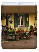 Gast Haus Display In Rothenburg Germany Duvet Cover by Greg Matchick