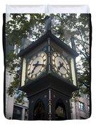 Gastown Steam Clock Duvet Cover