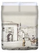 Gate Of The Vine , From Sketches Duvet Cover