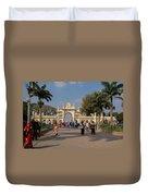 Gate To Maharaja's Palace India Mysore Duvet Cover