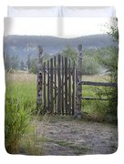 Gate To Peaceful Paradise Duvet Cover