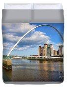 Gateshead Millenium Bridge In Newcastle 6206 Duvet Cover