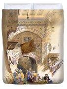 Gateway Of A Bazaar, Grand Cairo, Pub Duvet Cover
