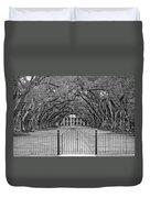 Gateway To The Old South Monochrome Duvet Cover by Steve Harrington