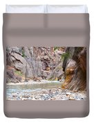 Gateway To The Zion Narrows Duvet Cover