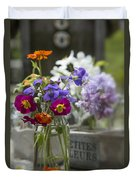 Gathering Wildflowers Duvet Cover
