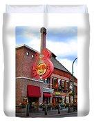 Gatlinburg Hard Rock Cafe Duvet Cover