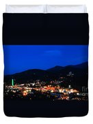 Gatlinburg Skyline At Night Duvet Cover