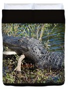 Gator On A Stick Duvet Cover