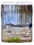 Gator On The Mound Duvet Cover