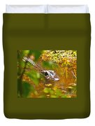 Gator On The Move Duvet Cover