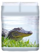 Gator Smile Duvet Cover