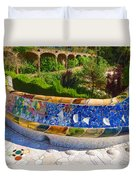 Gaudi's Park Guell - Impressions Of Barcelona Duvet Cover