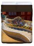 Gaudi's Park Guell Sinuous Curves - Impressions Of Barcelona Duvet Cover