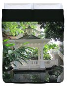 Gazebo Of The Tropics Duvet Cover