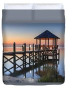 Gently - Gazebo On The Sound Outer Banks North Carolina Duvet Cover