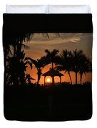 Gazebo Silhouette Duvet Cover