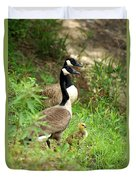 Geese And Gosling Duvet Cover