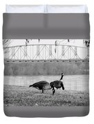 Geese By The Ohio Duvet Cover