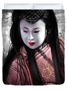 Geisha Kunoichi Duvet Cover