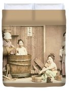 Geishas Bathing Duvet Cover
