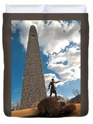 Gen. John Stark At The Bennington Battle Monument Duvet Cover