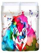 Gene Simmons Paint Splatter Duvet Cover