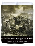 General Custers Death Struggle Duvet Cover