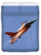 General Dynamics F-16am Fighting Falcon Duvet Cover
