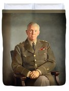 General George C Marshall Duvet Cover