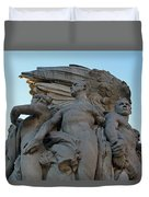 General George Meade Memorial -- Right Side Duvet Cover