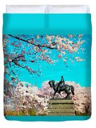 General In The Blossoms Duvet Cover