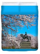 General In The Cherry Blossoms Duvet Cover