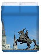 General Jackson Statue Duvet Cover