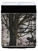 General Meade In The Cherry Blossoms Duvet Cover