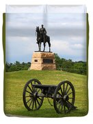 General Meade Monument And Cannon Duvet Cover by James Brunker