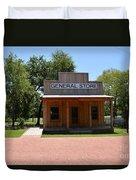General Store At Historical Park Duvet Cover
