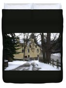 General Wayne Inn In Winter Duvet Cover