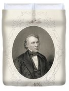 General Zachary Taylor, From The History Of The United States, Vol. II, By Charles Mackay, Engraved Duvet Cover