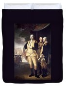 Generals At Yorktown, 1781 Duvet Cover