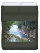 Genesee River In Grand Canyon Of East Duvet Cover